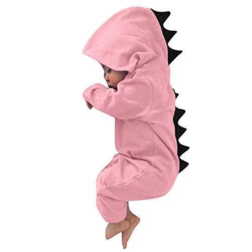 satiny Babykleidung Neugeboren Babymädchen Mädchen Kleidung Strampler Outfits Cute Dinosaurier HoodieEinfarbigZip Overall Jumpsuit Schlafanzug Mit Kapuze