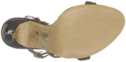 Unze Evening Sandals, Sandali col tacco donna Marrone (Braun (L18184W))