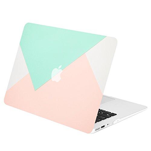 TOP CASE - Gummierte Hartschalentasche mit geometrischem Muster für das MacBook Air 13