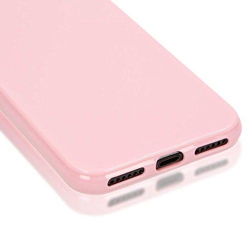 iPhone 8 / 7 Hülle Handyhülle von NICA, Ultra-Slim TPU Silikon Jelly Case, Dünnes Cover Gummi Schutzhülle Skin, Etui Handy-Tasche Backcover Bumper für Apple i-Phone 7 / 8 Smartphone - Rot Rosa