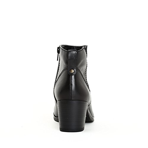 MARINA SEVAL by Scarpe&Scarpe - Bottines hautes lisses, en Cuir Noir