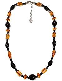 Venetiaurum - Collier ras-de-cou pour femme avec perles de véritable verre de Murano et argent 925 - Bijou certifié Made in Italy
