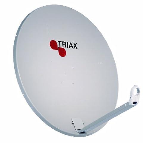 Triax TDA 64 H-1 Satellitenschüssel mit LNB Halterung 65 cm (25,6 Zoll) grau