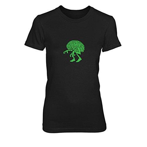 Student Kostüm Professor Und (Walking Brain - Damen T-Shirt, Größe: L, Farbe:)