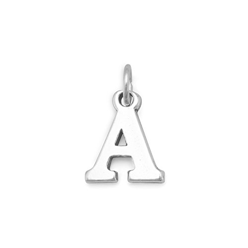 Alpha Alphabet Bead (Sterlingsilber griechisches Charm Buchstaben Alphabet-Alpha-Maße: 15 x 12,5 mm (1/2-JewelryWeb)