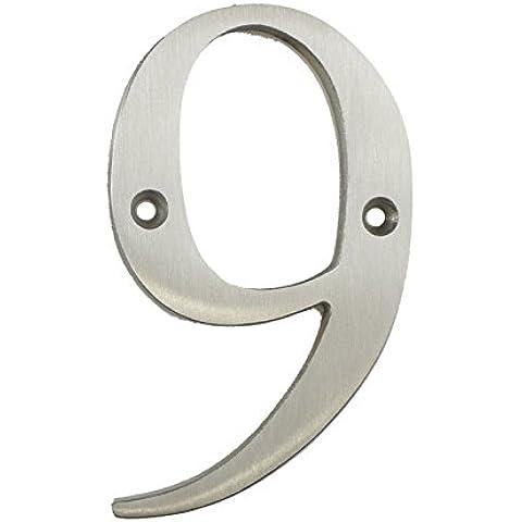 3inch sottile costiere Porta numero, colore: argento satinato porta numero 9–Non Pit o ruggine anche a la costa
