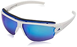 Adidas A181 Evil Eye Halfrim Pro L - Mens White Shiny/White 66 mm