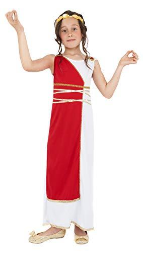 Smiffys Kinder Griechisches Mädchen Kostüm, Robe und Kopfbedeckung, Größe: M, - Kinder Der Griechischen Göttin Kostüm
