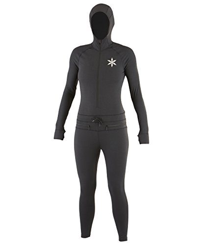 uzen Outdoor Base Layer Ninja Anzug, damen, schwarz, M (Ninja Kapuze)