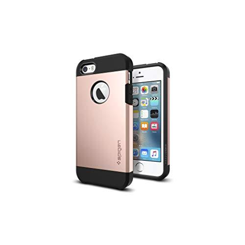 Spigen Coque iPhone Se, Coque iPhone 5S / 5 [Tough Armor] Protection US Military Grade [Rose Gold] Coussin d'air, Protection Angle, Anti Choc Coque iPhone 5 / 5s / Se (2016)