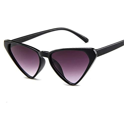 ZHOUYF Sonnenbrille Fahrerbrille Übergroße Sonnenbrille Frauen 90Er Jahre Cat Eye Sonnenbrille Weibliche Vintage Sexy Dreieck Brille, B