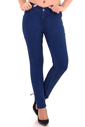 VANGULL Women's Cotton Skinny Fit Jeans(Dark Blue, 36)