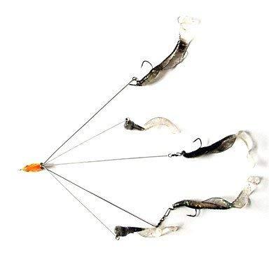 1 STÜCKE Fischköder 5-arm Alabama Rig Regenschirm Rig Harten Köder Süßwasser Flachwasser Bass Zander Crappie Minnow Angelgerät (gelegentliche Farbe) -