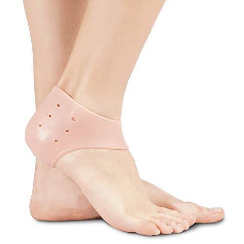 SolesGel Fersenkappe (Ein Stück) - Reduziert Fuß und Ferse Schmerzen - Hilft trockener Haut befeuchtet und frei von harten, gerissene Schuppenbildung - Einheitsgroße -