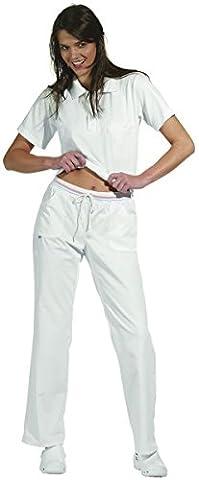 LEIBER Damen-Hose - weiß - Schrittlänge ca. 80cm - weiß/rosa - Größe: 40