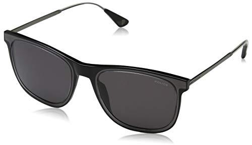 Police mark 4 occhiali da sole, nero (crystal black/grey), 54.0 uomo