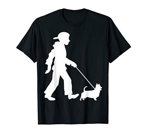 Australian Silky Terrier Gassi Gehen Hunde T-Shirt -