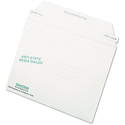 Quality Park 64126 Antistatic Fiberboard Disk Mailer 6 x 8 5/8 White Recycled 25/box by Quality Park