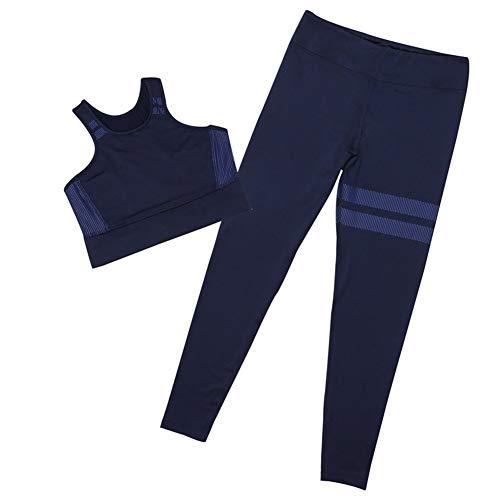 Activewear-crop Hose (Hellomiko 2 Teile/Satz Weibliche Elastizität Sport Tops + Yoga Jogging Leggings Fitness Trainingsanzüge Laufende Outfits Sportswear Activewear Trainingsanzug Set)