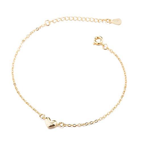 Good.Designs Herz Armkette für Damen - Armkettchen größenverstellbar mit Kleinem Herzchen Anhänger (Gold)