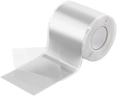 Poppstar 3m selbstverschweißendes Silikonband, Silikon Tape Reparaturband, Isolierband und Dichtungsband (Wasser, Luft), 50mm breit, weiß