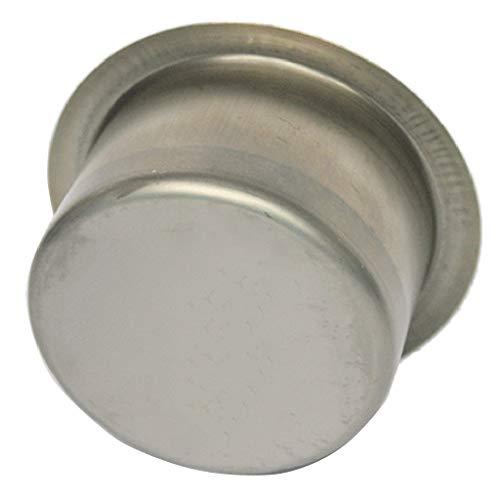 perfk Premium Edelstahl Getränkehalter Dosenhalter Flaschenhalter Becherhalter Aschenbecher für Boot Auto KFZ - Silber, 9,5 x 5,5 cm