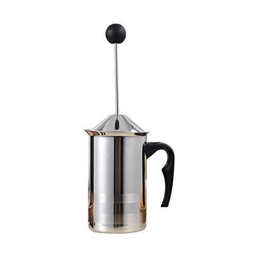 Manueller Milchaufschäumer/Sauce Topf, 400/600ml Edelstahl Handpumpe Milch Schäumer, Milch Schäumend Krüge DIY Kostüm Kaffee Creme Kaffee Schäumer - 600ml, - Kaffee Topf Kostüm