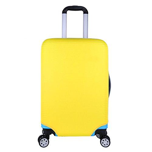Freebily Housse de valisse Bagage Luggage Voyager Coque Bagages Couverture Étui Imprimé Protection de Valise Couverture Protecteur Housse de Bagage Taille S M L Jaune M