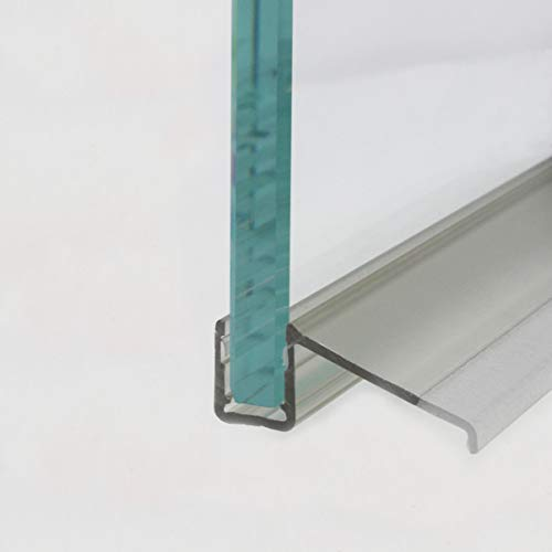 HEILER Wasserablaufprofil in Verbindung mit Plexi-Halbrundstab