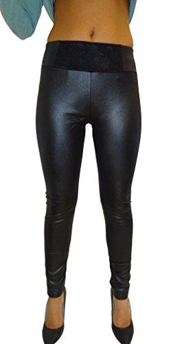 Delle-signore-nuovo-merletto-confortevoli-anteriori-in-pelle-elastico-sguardo-fiore-ricamato-cintura-Slim-Fit-Jegging-Taglia-6-8-10-12