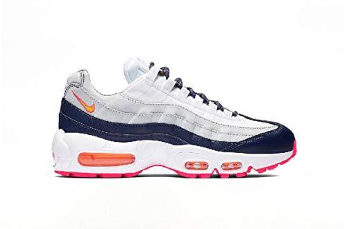 Nike AIR MAX 95 W Sneaker Damen Weiss/Blau/Orange - 40 - Sneaker Low