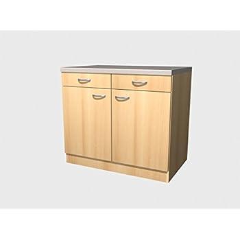 Küchen Unterschrank 100 cm Buche - Namu: Amazon.de: Küche & Haushalt | {Unterschrank küche 33}