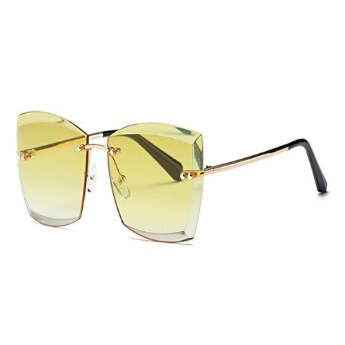 Sport-Sonnenbrillen, Vintage Sonnenbrillen, Sunglasses For Women Square Rimless Diamond Cutting Lens Fashion Shades Sun Glasses AE0528 NO2