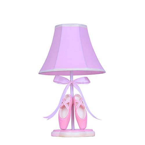 Lámparas de Escritorio Zapatos de Ballet de Resina de habitación de niñas Rosadas Lámpara de Mesa de niños, lámpara de Mesa de Dormitorio de Regalo de Princesa de cumpleaños, E27 * 1 Durable Lámparas