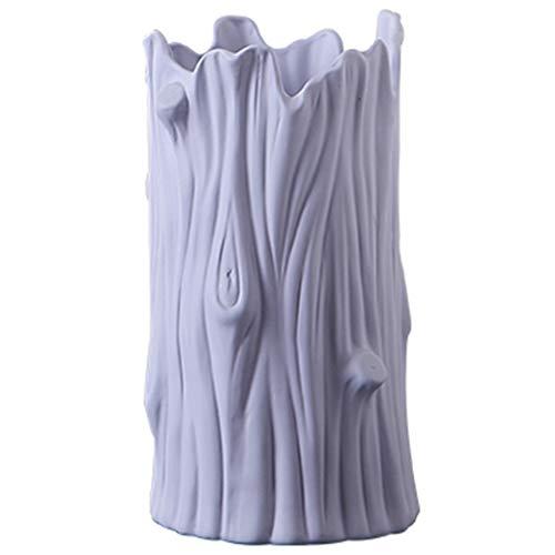 Zhizaibide Keramikvase keramikvase büro Wohnzimmer kreative persönlichkeit Blume anordnung stamm blumenvase Hause kleine frische einrichtungsgegenstände (Color : Blue, Size : 32 * 14CM) -
