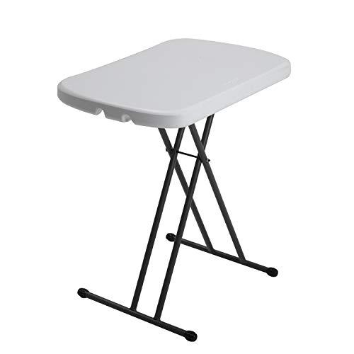 Lifetime - Mesa Auxiliar Plegable con Altura Ajustable, 66x45x60/66/70 cm, Blanco, LFT Personal
