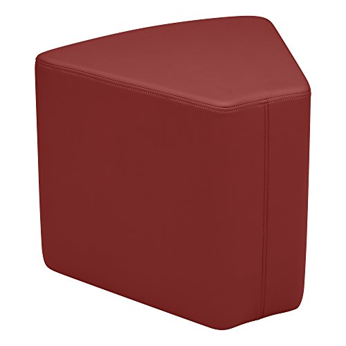 Burgundy Soft-vinyl (School Outfitters Shapes Series II Vinyl Soft Seating Stool, Wedge, 18