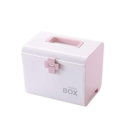 MXK ABS Medizinschrank Lagerung Droge Aufbewahrungsbox Erste-Hilfe-Kasten Kasten Multifunktionale Medizin Truhe Große 27X19 × 22 cm (Color...