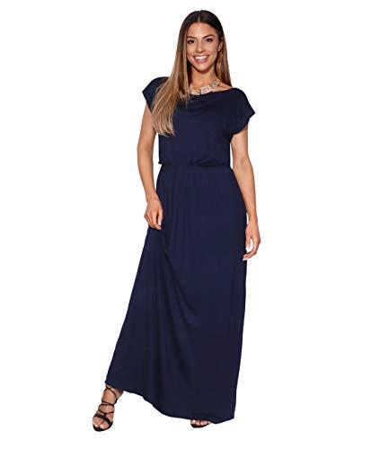 KRISP 3269-NVY-14 Damen Leichtes Kleid (Marineblau, Gr.42) - Leichte Vintage-jersey