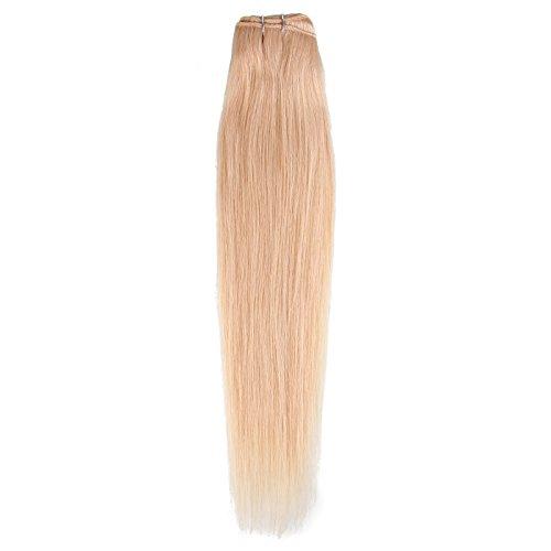 Beauty7 1 Bundle Tissage Couleur #613 Blonde tres clair Extension de Cheveux Humain Bresiliens 6A Grade Trame de Cheveux Raides / Droits / Lisse Longueur 28 Inch ( 70 cm ) - Poids 100 grams