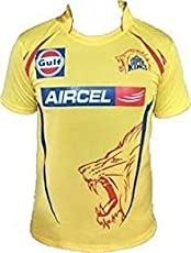 ARFA Boy's and Girl's Polyester Chennai Super Kings IPL T-Shirt (16-20 Years)