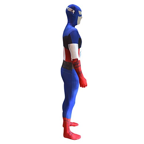Imagen de morphsuits mlcal  capitán américa disfraces adultos, l, 165 180 cm, multicolor alternativa