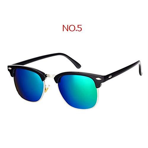 Macxy - Klassisch polarisierten Sonnenbrillen Männer Frauen Retro-Marken-Entwerfer-Qualitäts-Sonnenbrillen Weiblich Männlich Mode Spiegel Sunglass [No5]
