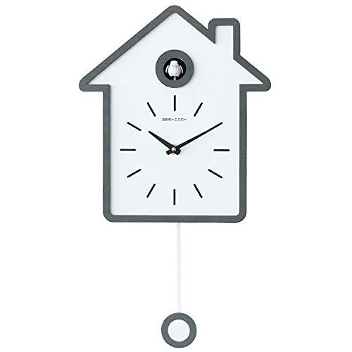 Xbr orologio da muro per bambini design degli animali parete per bambini camera da letto soggiorno cucina scuola decorazione da parete regali per bambini orologio al quarzo, gray