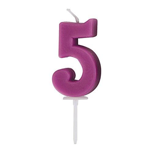 Ibili 786.305 Candeline di compleanno Impostazione numero 7 centimetri