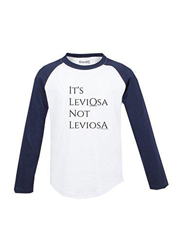 It's Leviosa, Kinder Langarm Baseball T-Shirt - Weiss & Blau 9-10 Jahre