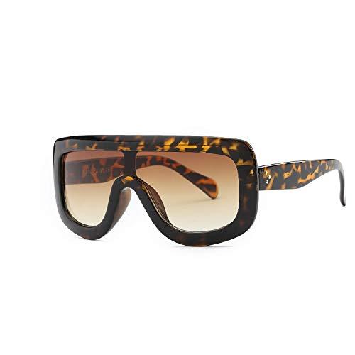 YUHANGH Übergroße Sonnenbrille Frauen Rivet Celebrity Kim Kardashian Sexy Sonnenbrille Für Frauen Flat Top Ladies Female