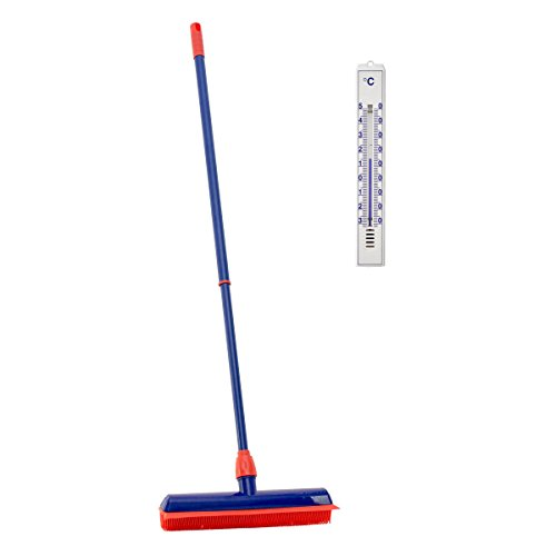 lantelme-5638-rubber-broom-with-telescopic-handle-and-thermometer-set