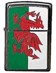 Zippo Wales Flag Emblem - Kits de superviviencia, color plateado