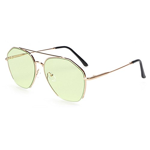 RLJJSH Sonnenbrille Ms. Polarized Metal Frame Spiegel Cat Eye Sonnenbrille UV Shield Pink Schwimmen Sonnenbrille Sonnenbrille (Farbe : Grün, größe : One Size)